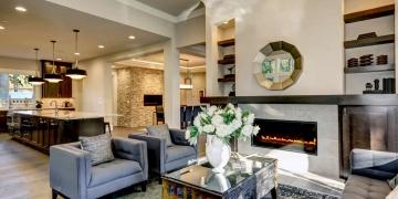 Decoración interior de lujo para el hogar