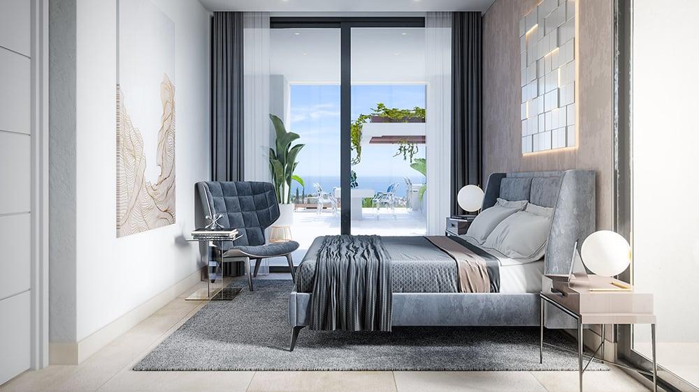 El cuarto de la nueva vivienda de Cristiano Ronaldo en Marbella.