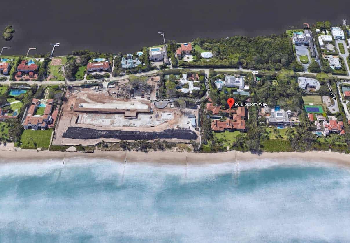 Conjunto de terreno de Ken Griffin en Blossom Way, Palm Beach, Florida