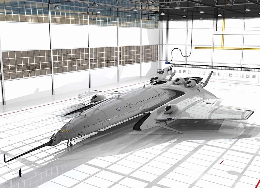 Flash Falcon: Avión supersónico por el diseñador industrial Oscar Viñals