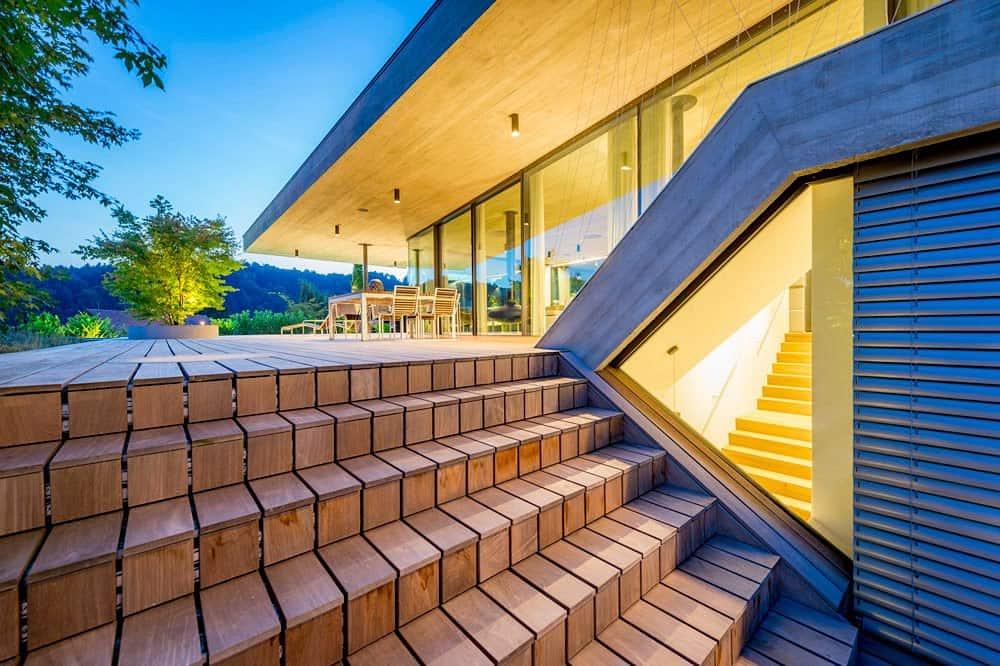 Haus e: Ubicada en la periferia de Linz con espectaculares vistas de la ciudad