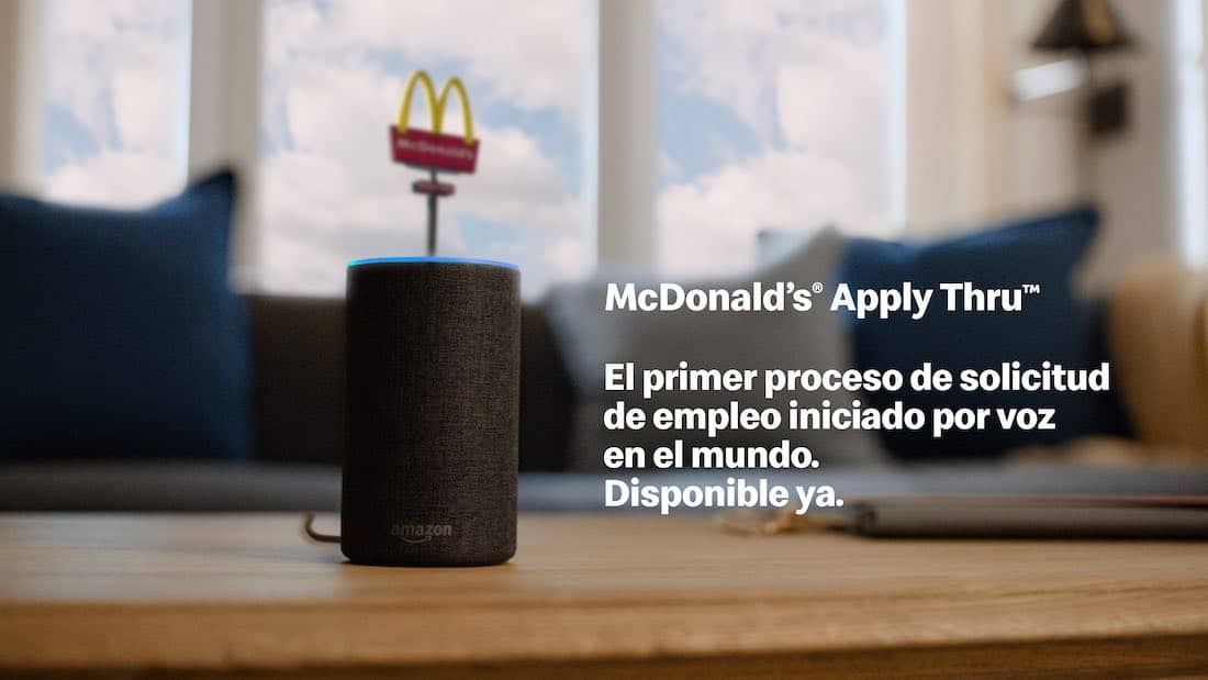 Alexa: McDonald's Apply Thru