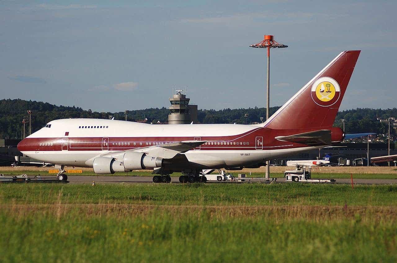 Jet privado Boeing 747 expropiedad de la familia real de Qatar