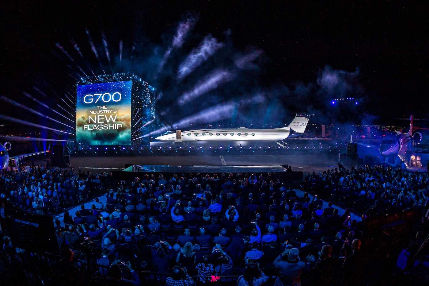 La presentación del avión privado más grande del mundo en Savannah, Georgia.