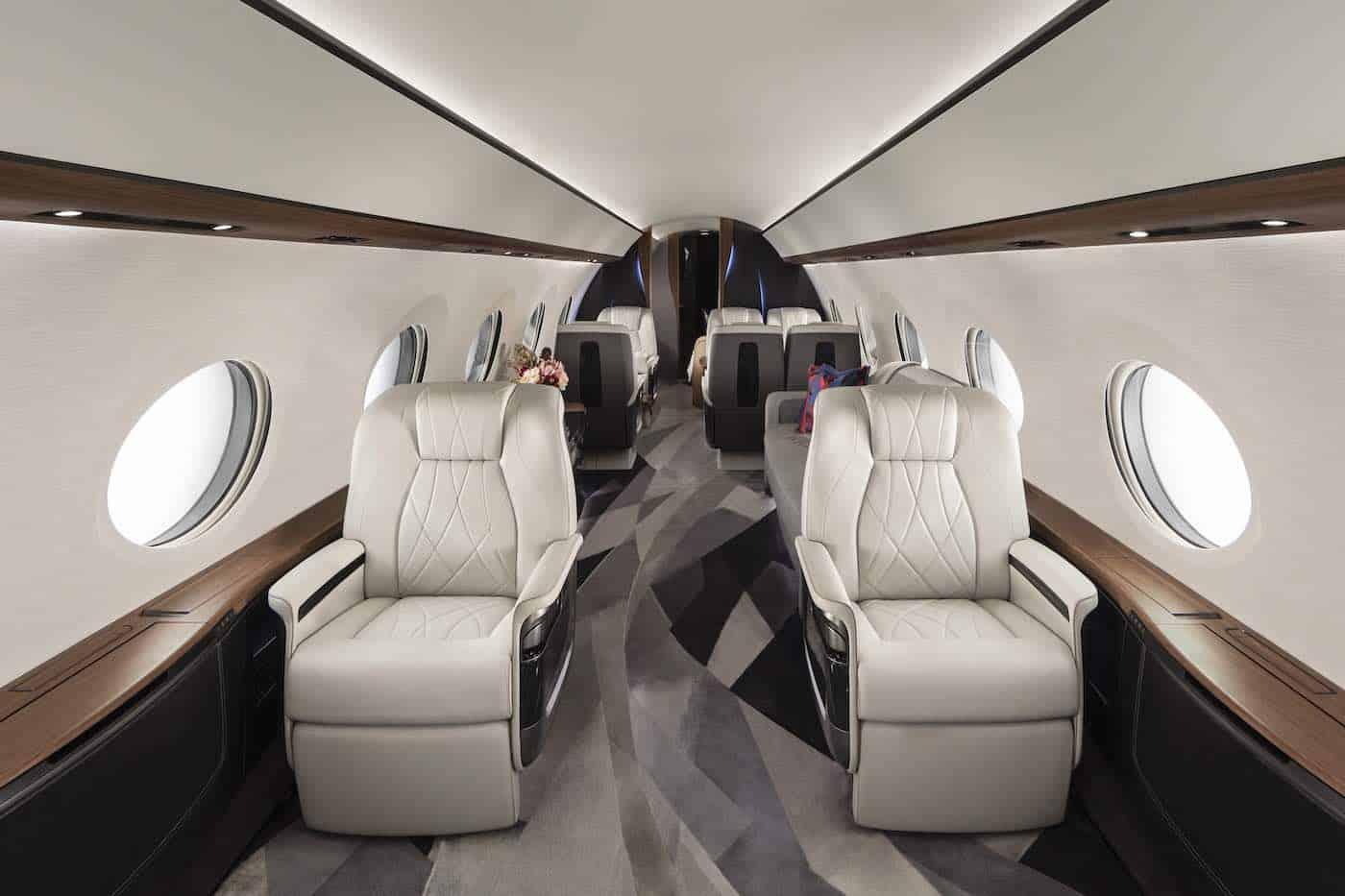 Interior del avión privado más grande del mundo