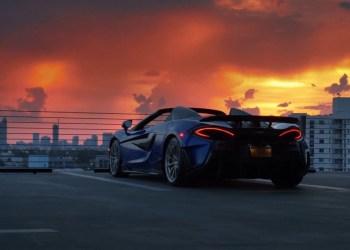 Miami a medianoche en un McLaren 600LT Spider