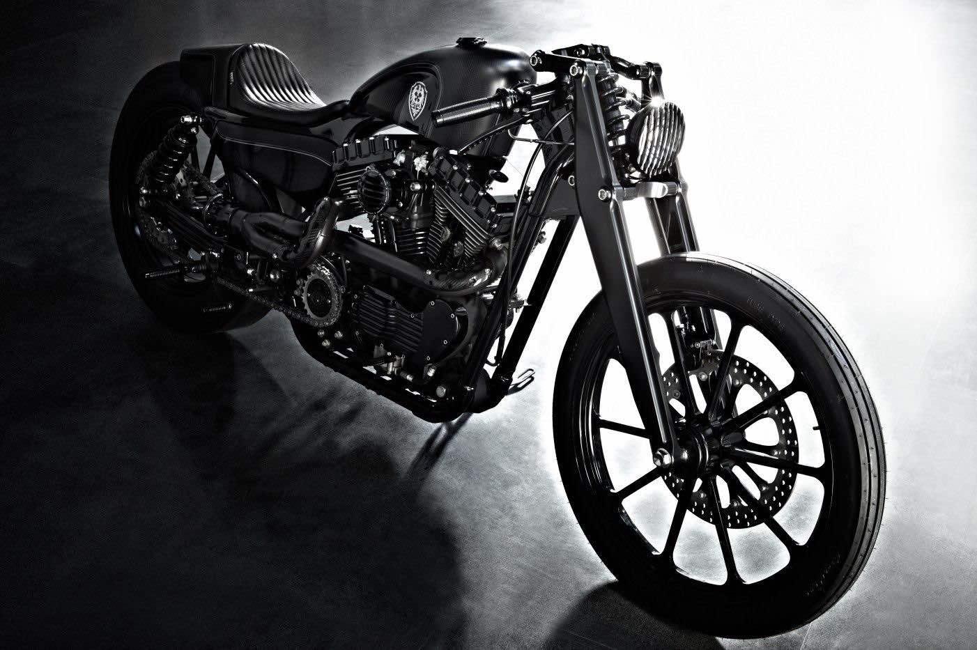 Motocicleta Harley-Davidson Sportster 'Stealth Bullet' por Rough Crafts