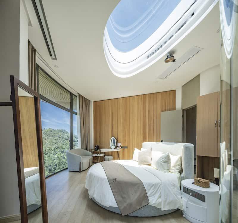 Una de las habitaciones del resort en China