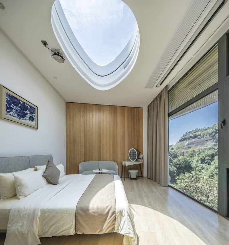 Otra de las habitaciones del resort de lujo en China