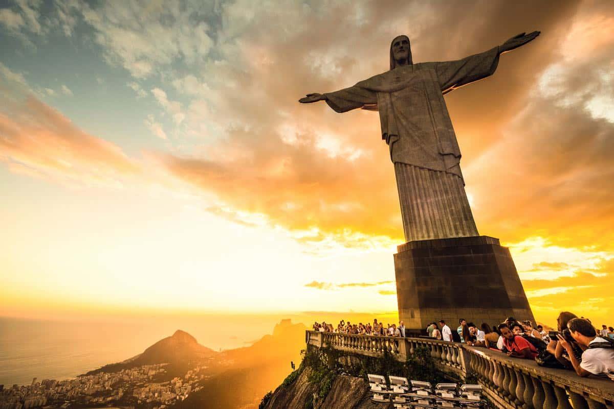 Cerro Corcovado en Río de Janeiro, Brasil