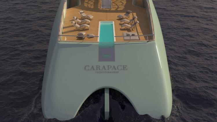 Concepto futurista de súperyate: Carapace