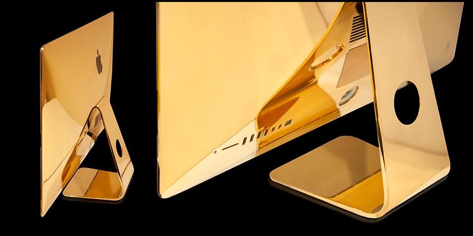 Computadora iMac chapado en oro 24k por Goldgenie