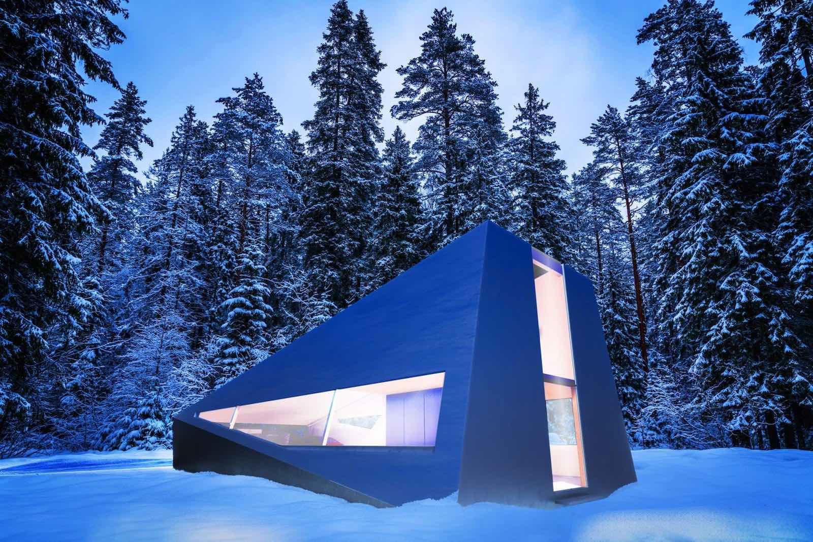 Concepto de garaje futurista y modular pro Lars Büro.