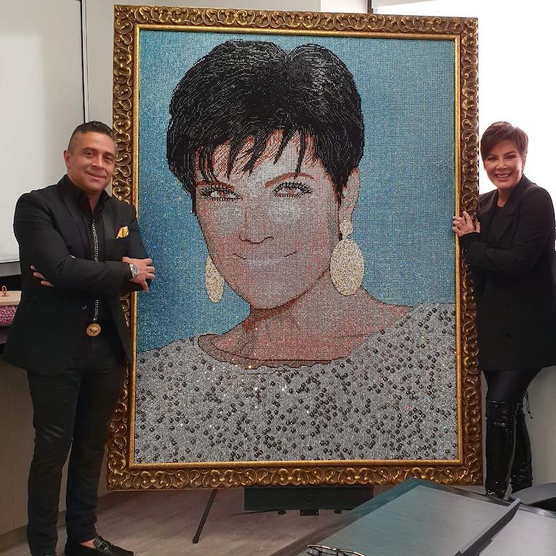 Conozca Mauricio Benítez, el artista detrás de los increíbles retratos con cristales Swarovski de los más famosos