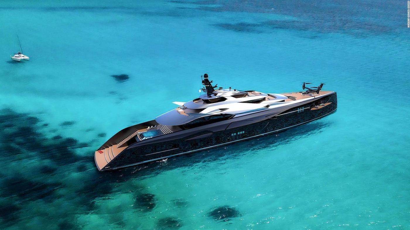 Proyecto Centauro: Un megayate con un diseño lujoso, deportivo y futurista