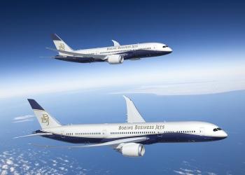 Lujoso avión de negocios Boeing