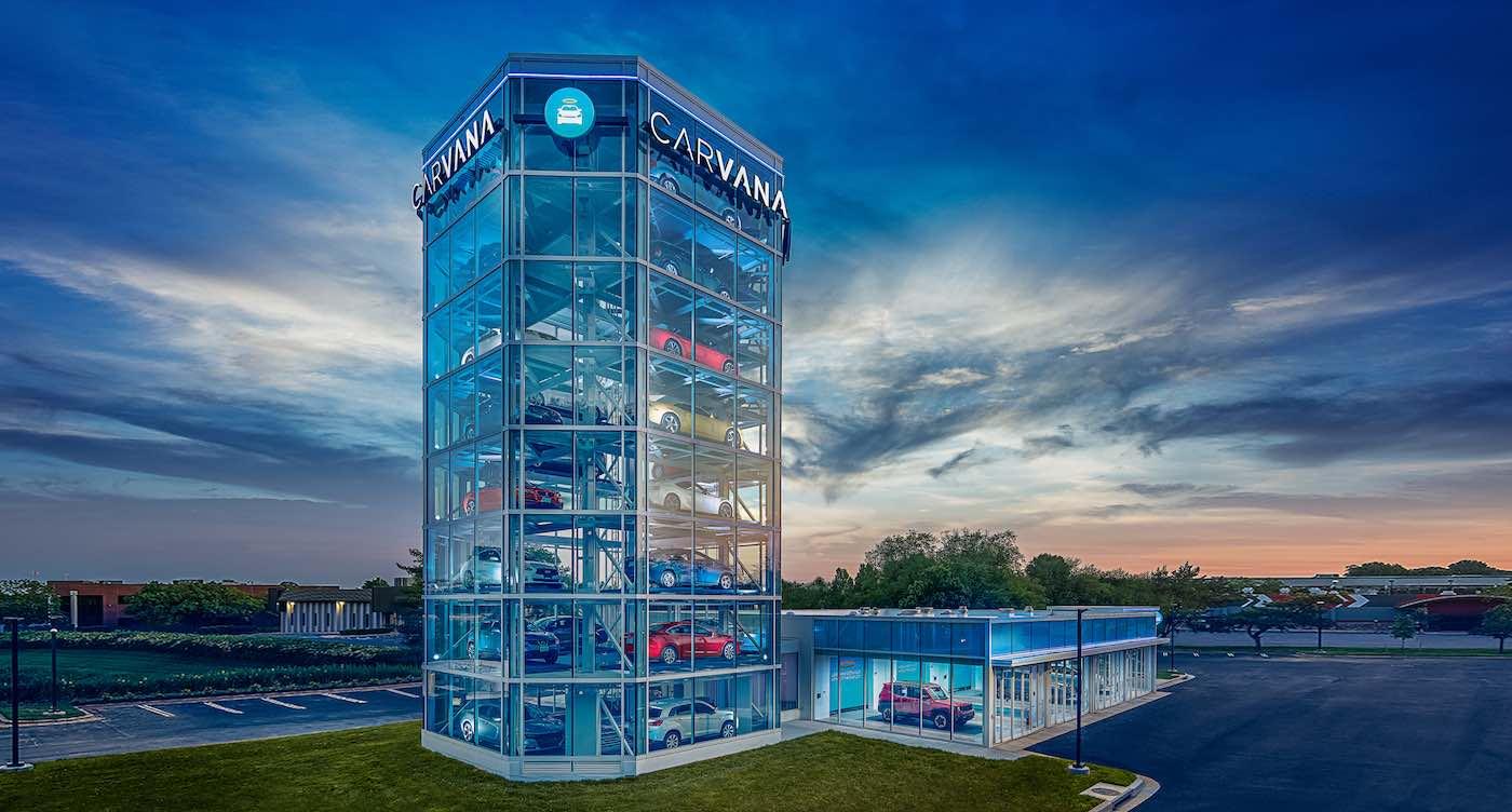 Carvana abre la máquina expendedora de automóviles Nº10 en los Estados Unidos
