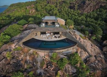 Six Senses Zil Pasyon presenta su residencia para vacacionar de cuatro dormitorios ubicada en una isla privada