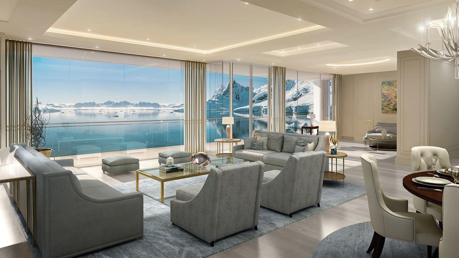 Lujoso concepto del diseñador Espen Oeino muestra el superyate privado más grande del mundo