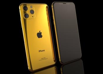 iPhone 11 Pro y iPhone 11 Pro Max de oro 24k