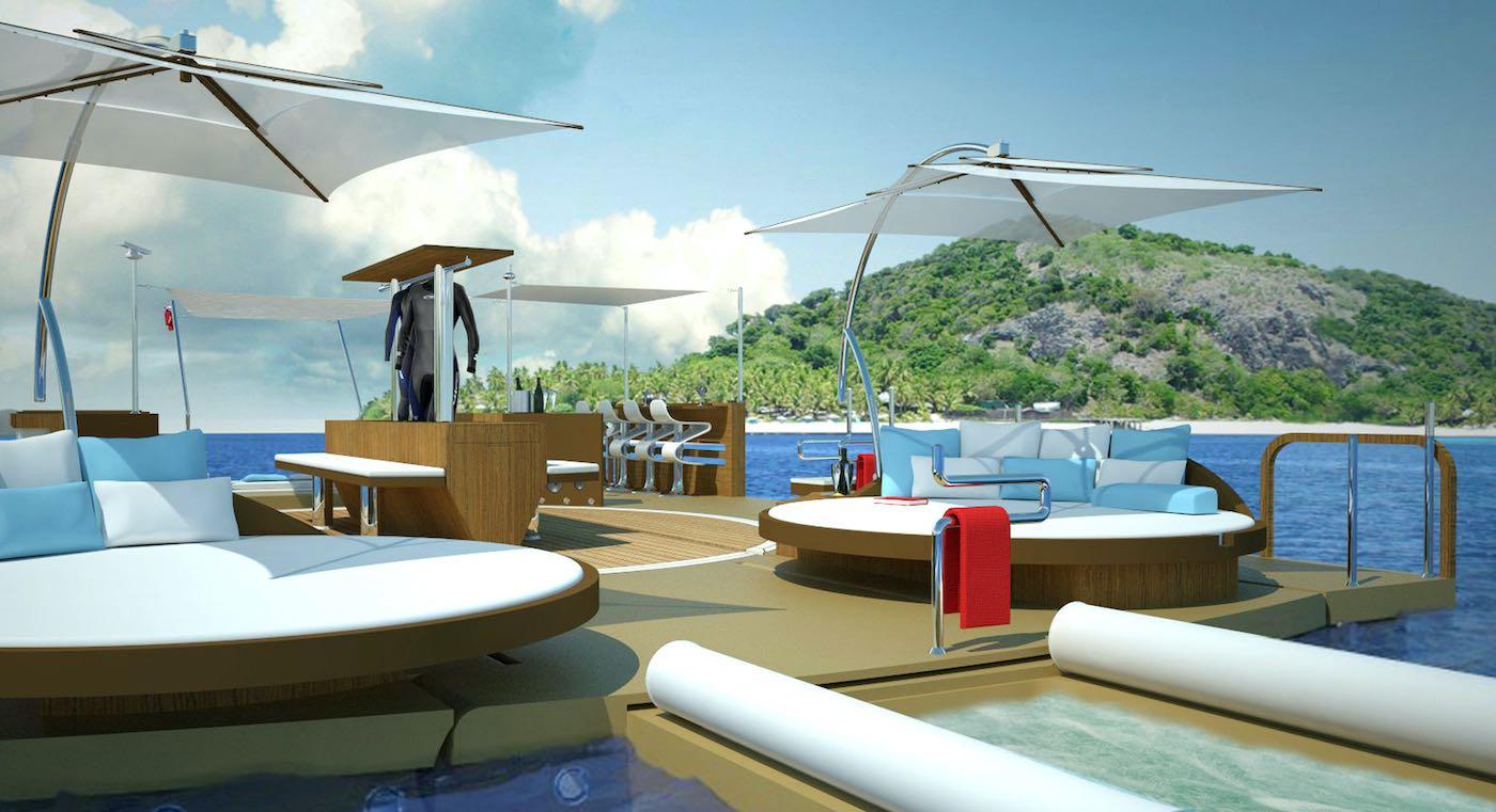 Recreational Island: Una innovadora plataforma flotante para súperyates