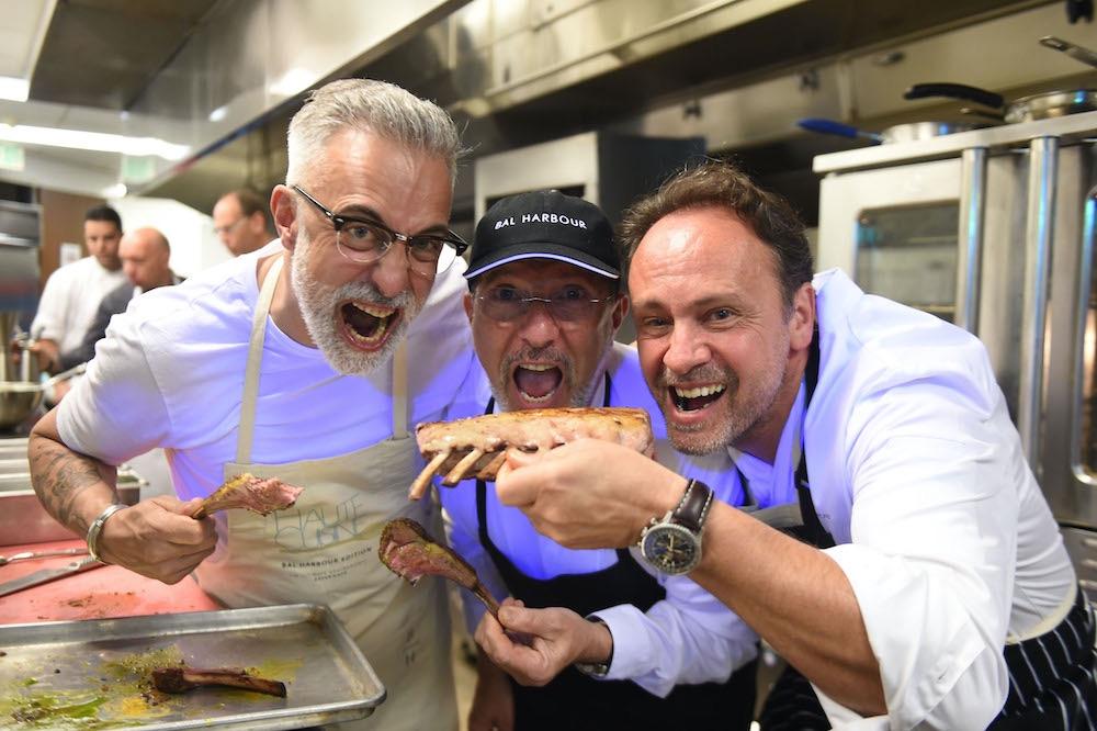 Chefs Sergi Arola, Alain Caron y Thierry Drapeau