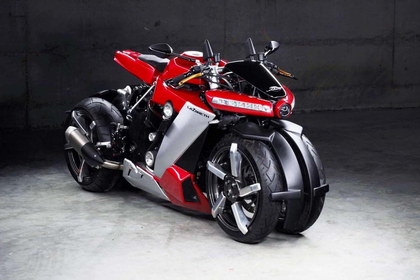 Lazareth lleva a producción la LM 410, su mega potente motocicleta de 4 ruedas alimentada por un motor Yamaha R1