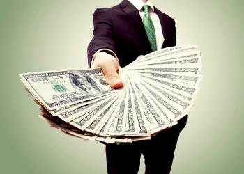 Dinero dólares en efectivo