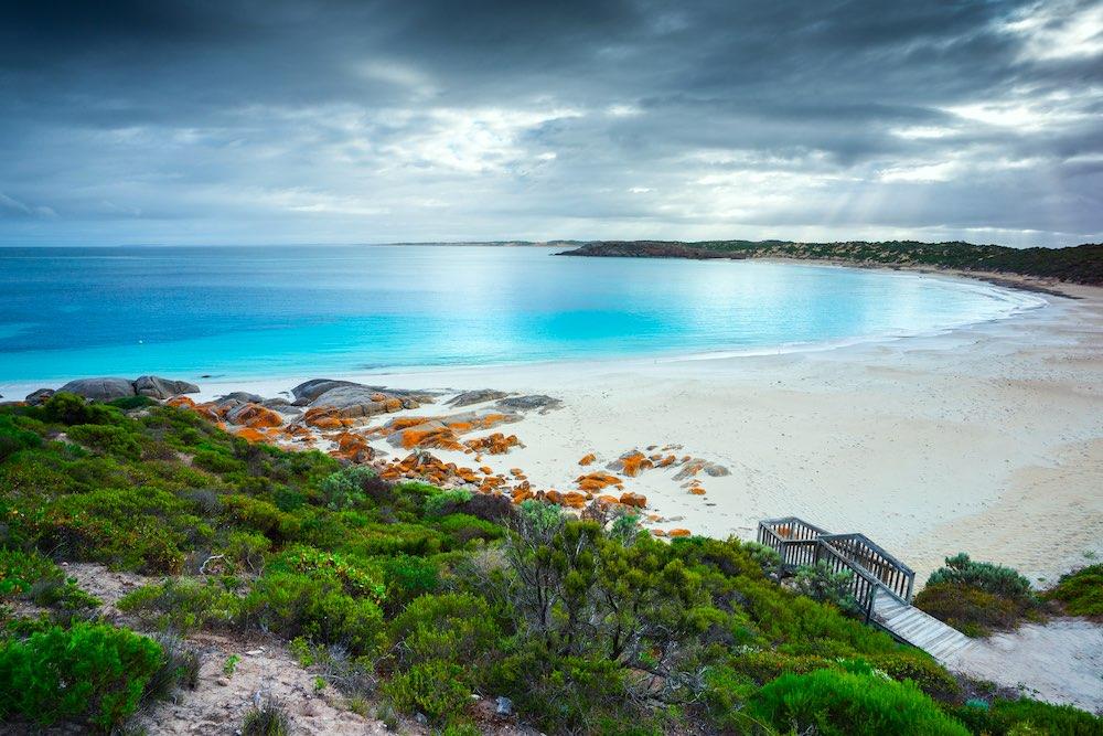 Dolphin Bay en el sur de Australia