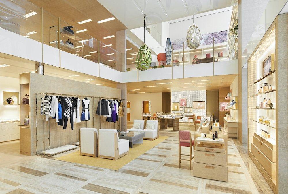 La tienda Louis Vuitton en Osaka, Japón