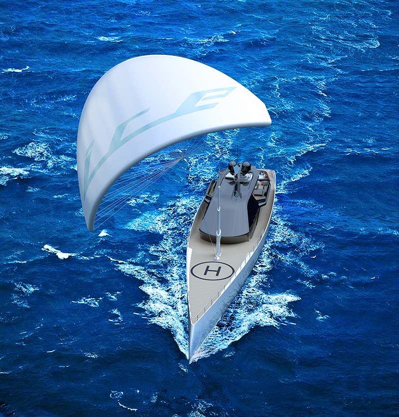 El concepto futurista de súperyate ICE Kite por Red Yacht Design es simplemente impresionante