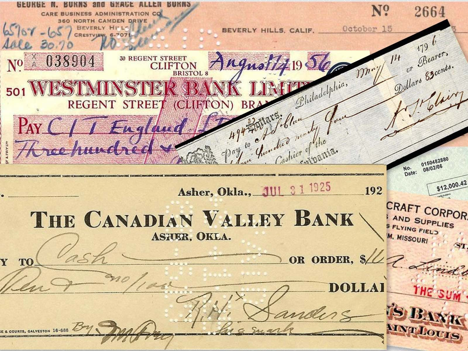 Cheques cancelados: artículos coleccionables interesantes que puedes comprar