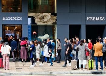 Tienda Hermès en Canton Road, Hong Kong.