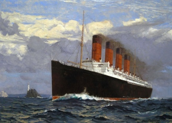 Lusitania by Norman Wilkinson, 1907