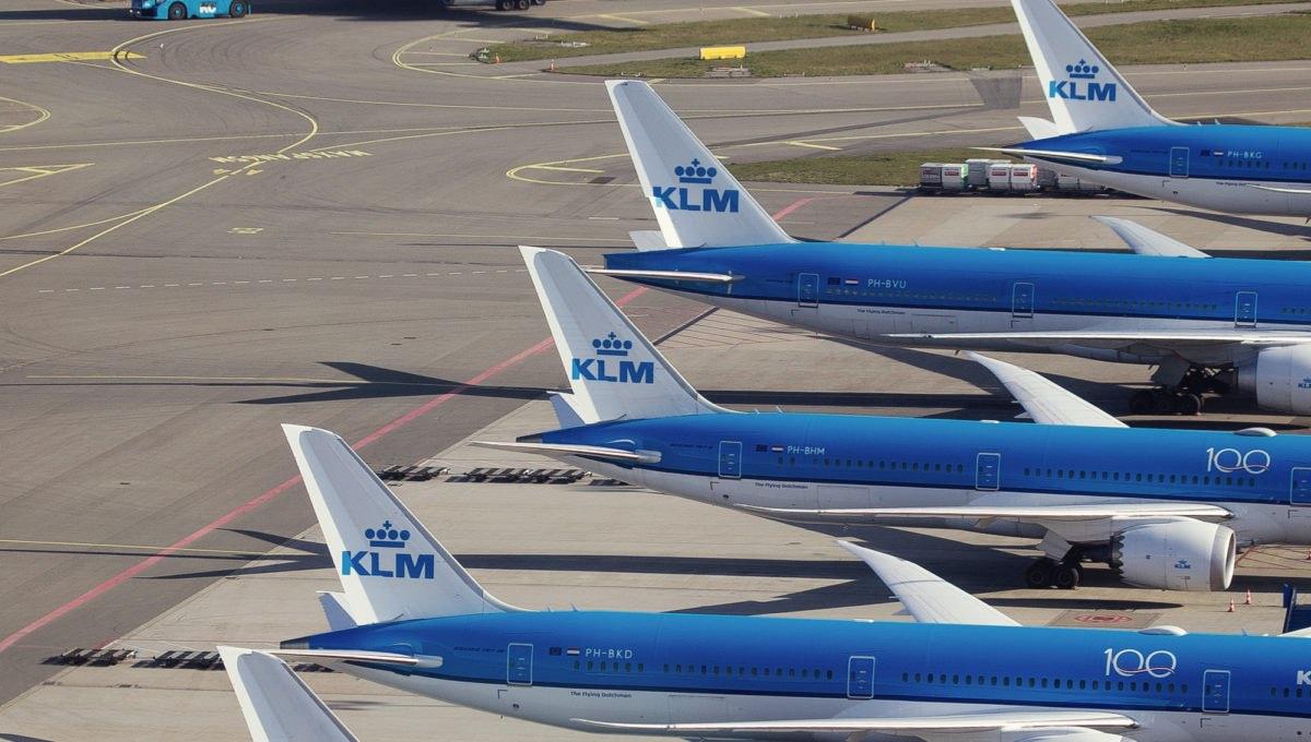 KLM: Así es como están estacionados nuestros aviones