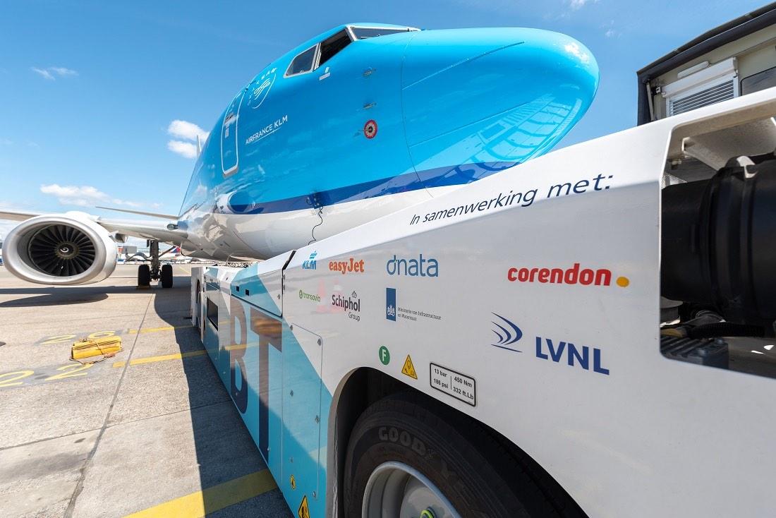 KLM prueba el rodaje sostenible