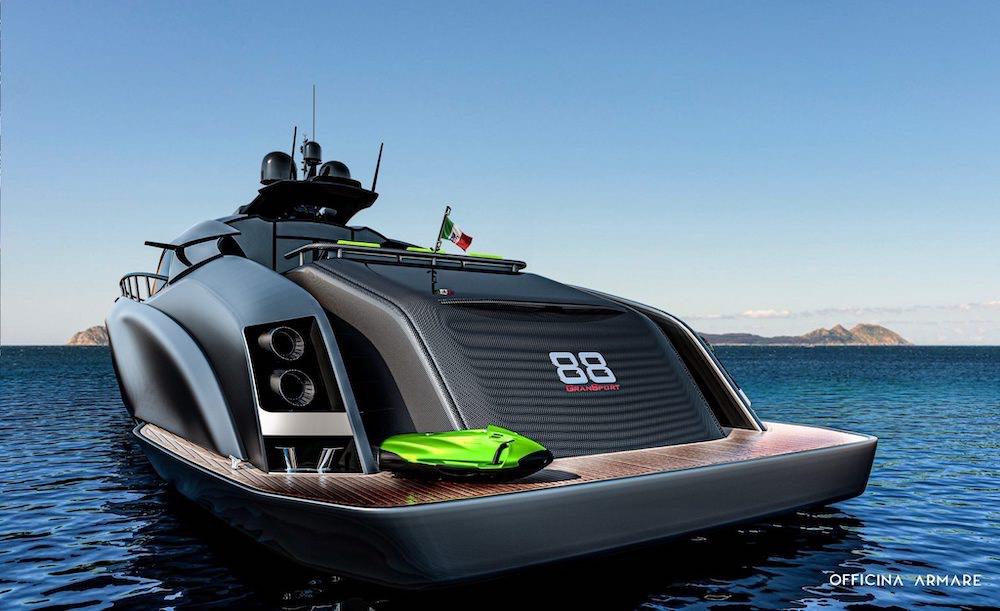 El nuevo concepto de Officina Armare está inspirado en el Lamborghini Centenario Roadster.