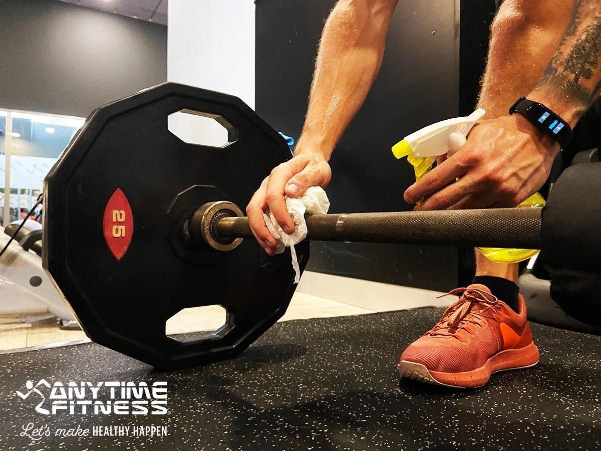 Todas las medidas de seguridad e higiene que Anytime Fitness ha implantado en sus clubes están perfectamente explicadas y visibles.