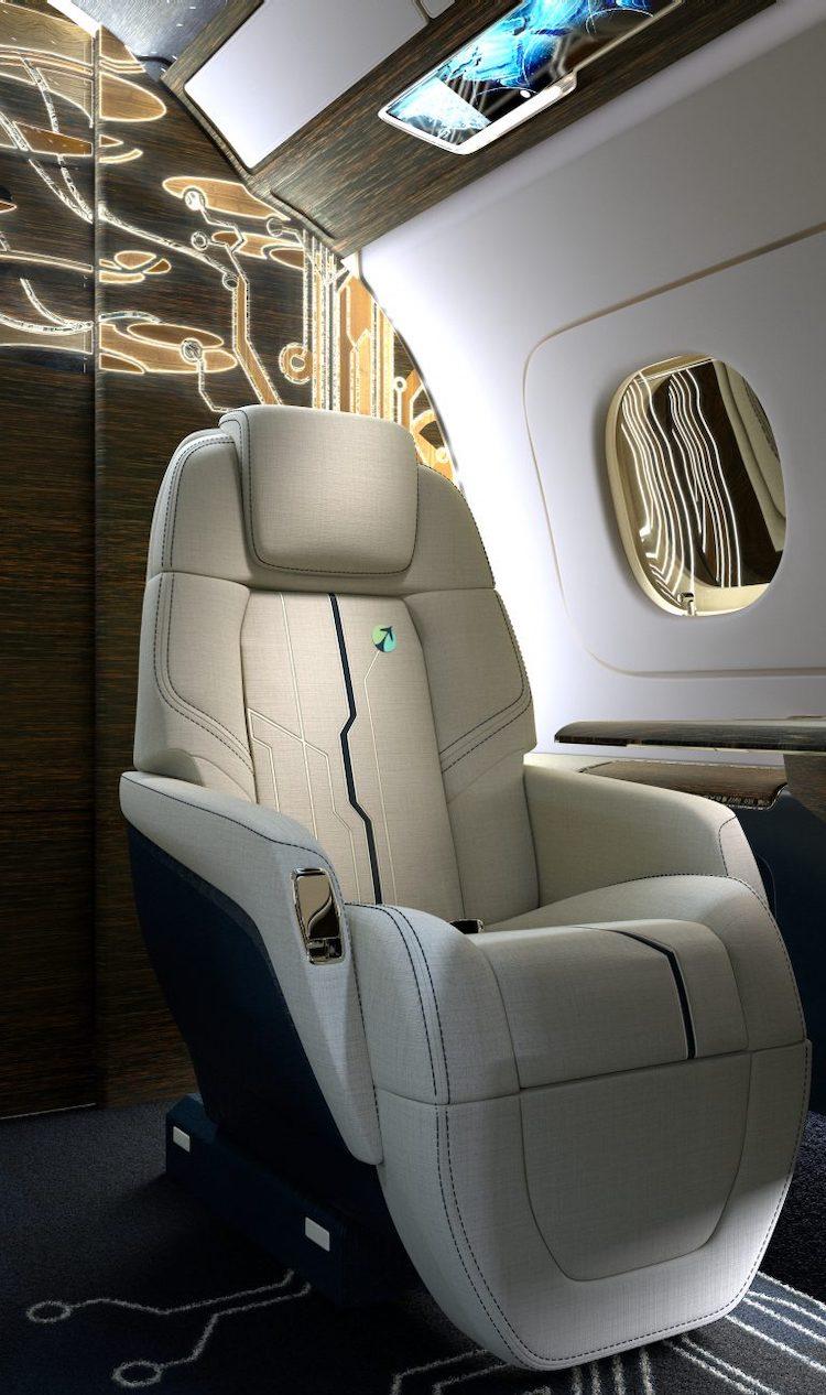Embraer presenta un nuevo concepto de diseño de interiores para su jet privado Praetor 600.