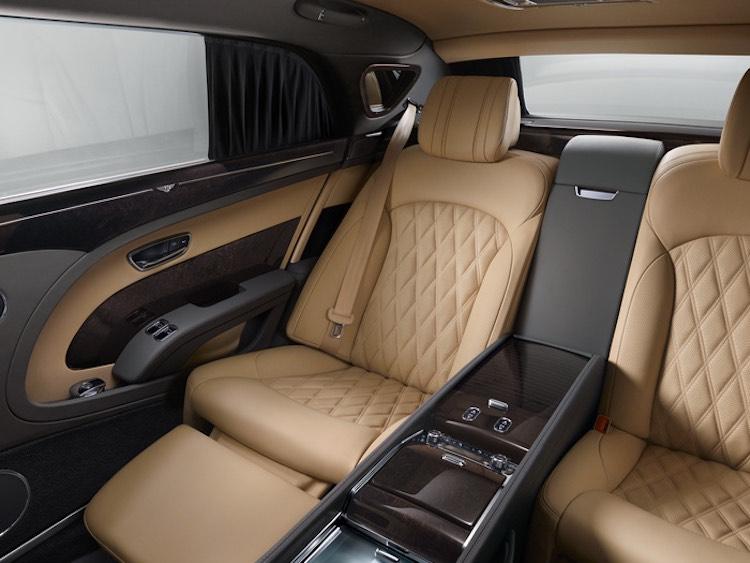 Mulsanne Extended Wheelbase, el confort de los asientos traseros elevados a nuevas cotas