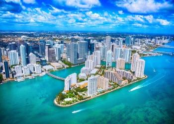El distrito del centro de Miami, Florida