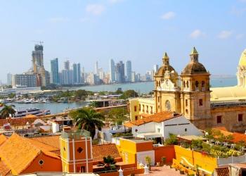 Vista del centro histórico de Cartagena, Colombia