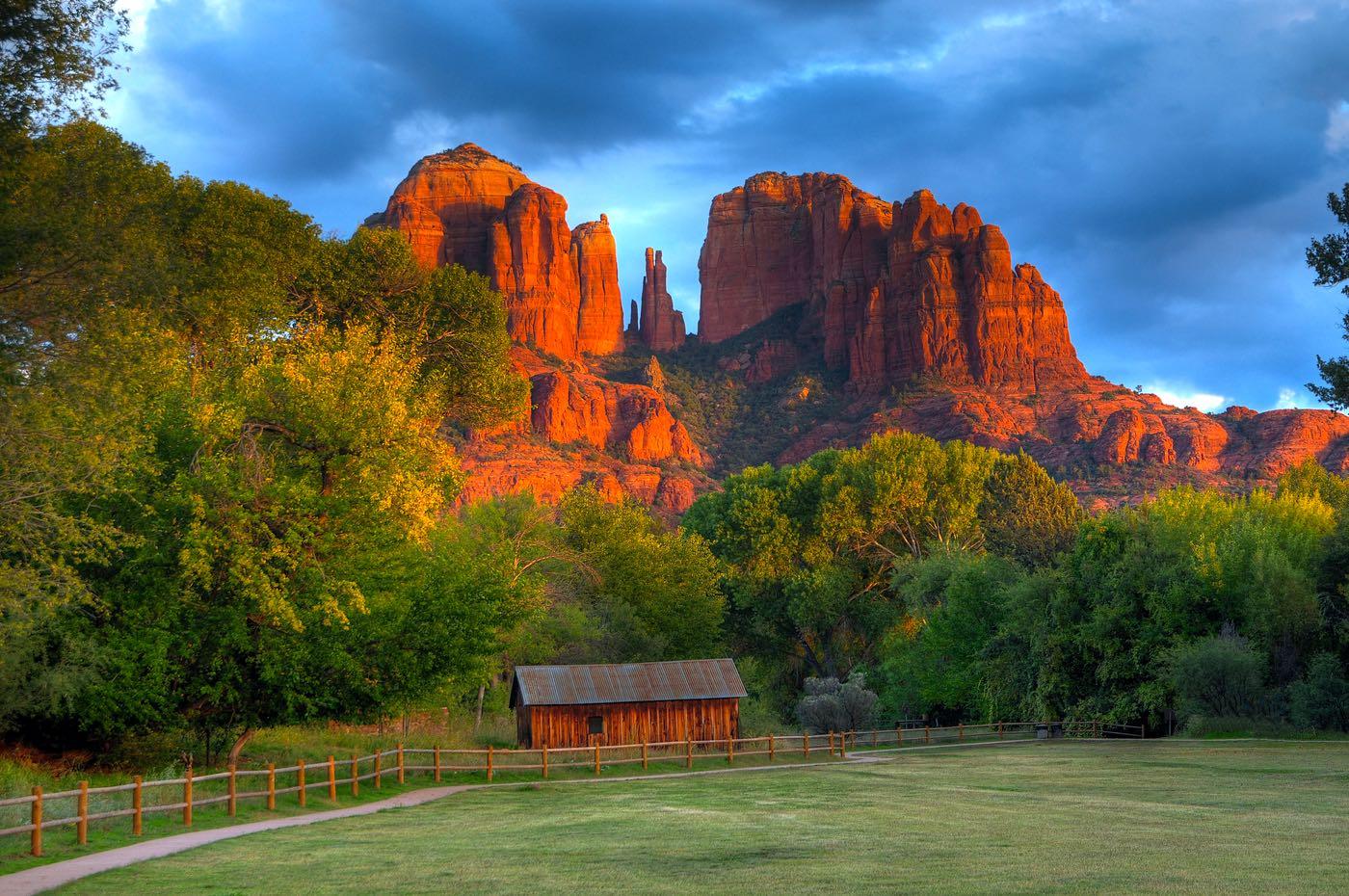 Casa de campo en la Catedral de Roca en Sedona, Arizona