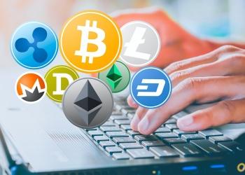 Concepto de negocio mundial de la criptomoneda.