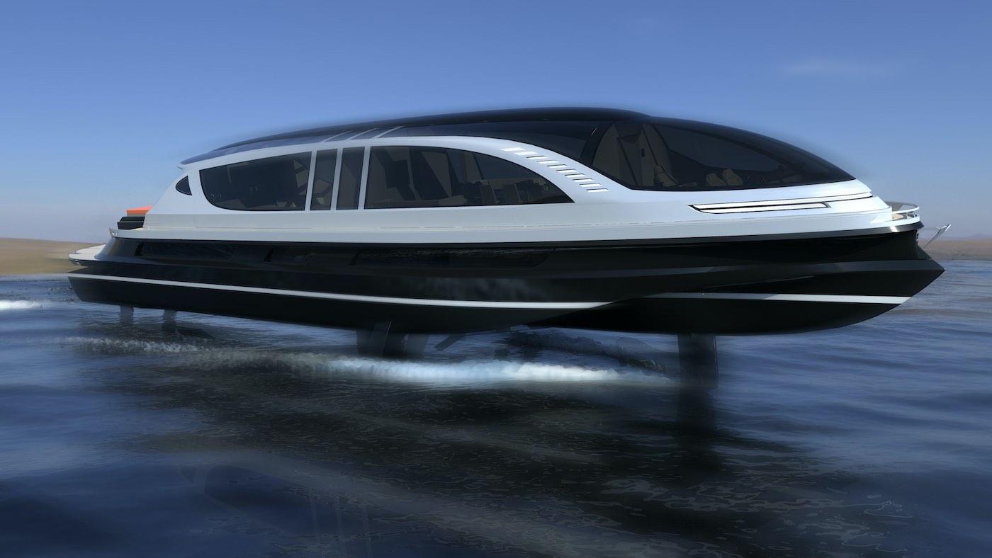 XENOS: Este concepto de hiperyate es increíblemente rápido y viene con su propio Bugatti