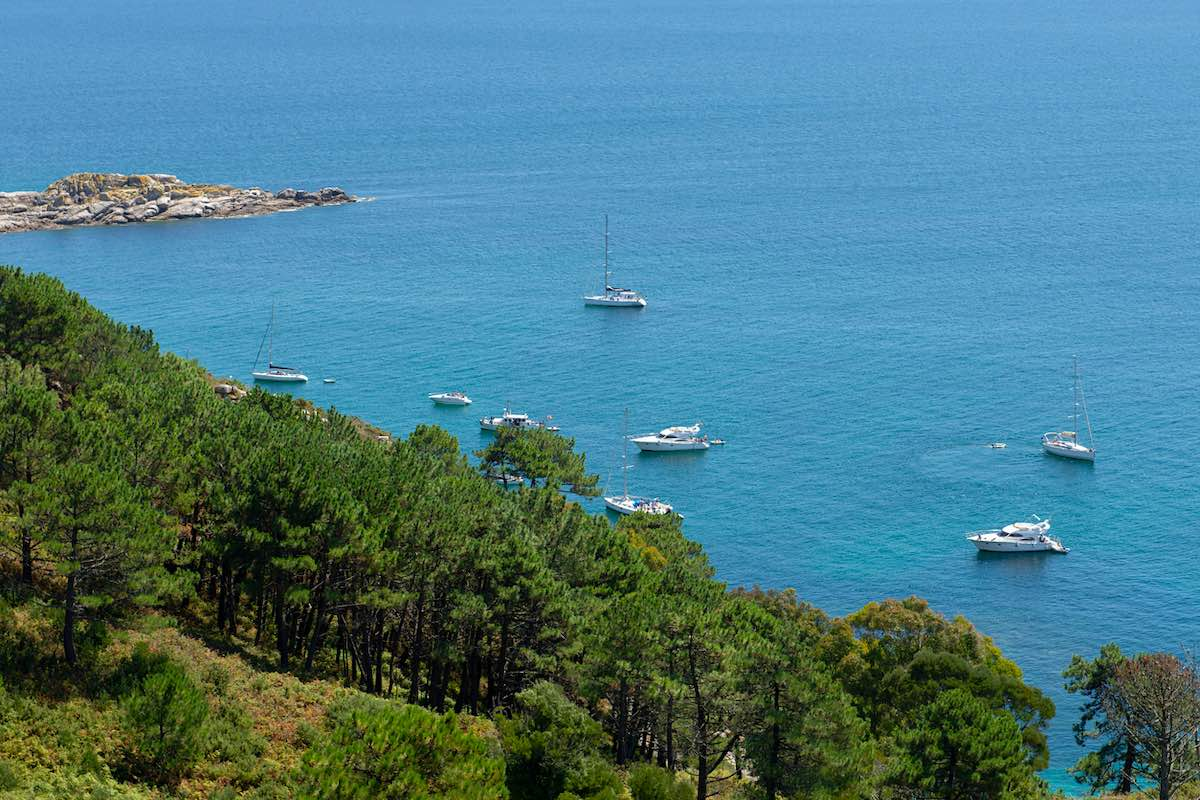 Islas Cíes en Vigo, España