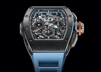 Richard Mille presenta el RM 11-05 Automatic Flyback Chronograph GMT en el nuevo material Cermet gris