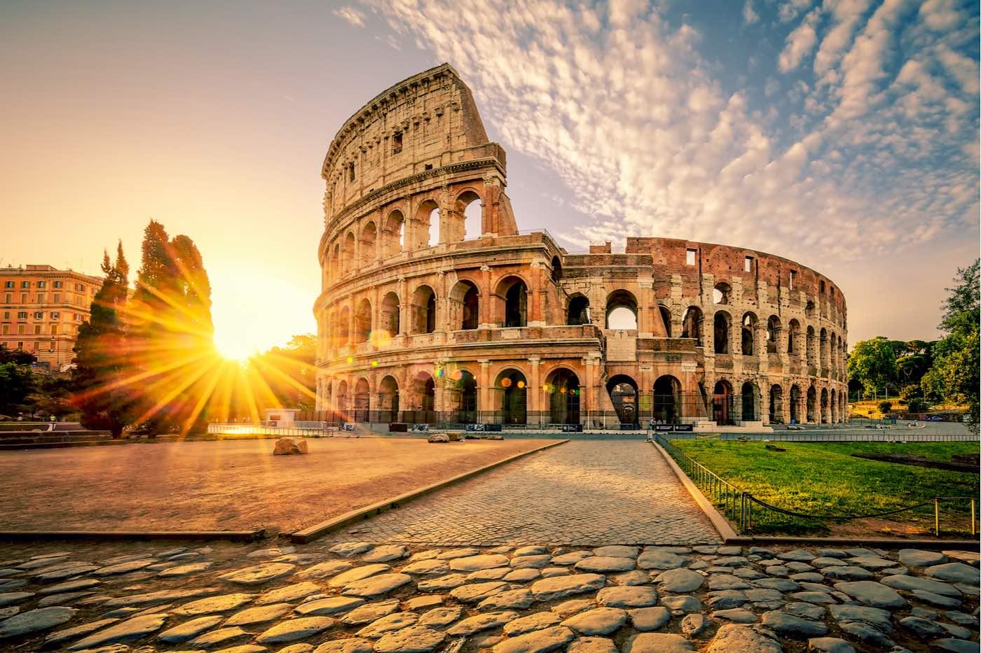 Coliseo en Roma, Italia, Europa.