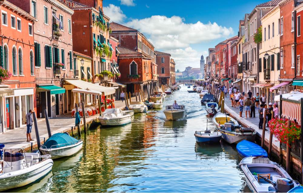 Isla de Murano en Venecia, Italia.