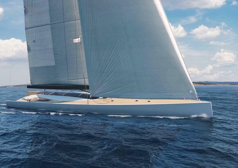 Philippe Briand presenta el nuevo concepto de velero SY200 de 63m